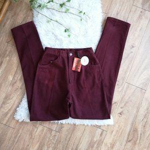 NWT Vintage • Rockies High Waisted Jeans Burgundy
